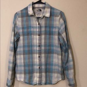 The north face plaid button down shirt